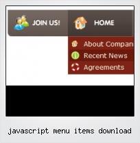 Javascript Menu Items Download
