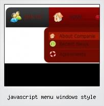 Javascript Menu Windows Style