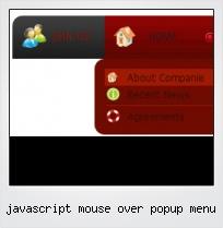 Javascript Mouse Over Popup Menu