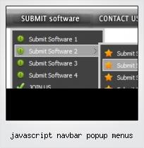 Javascript Navbar Popup Menus