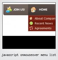Javascript Onmouseover Menu List