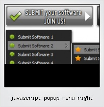 Javascript Popup Menu Right