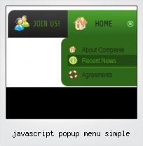 Javascript Popup Menu Simple