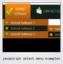 Javascript Select Menu Examples
