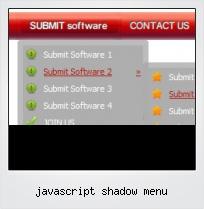 Javascript Shadow Menu