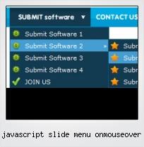 Javascript Slide Menu Onmouseover