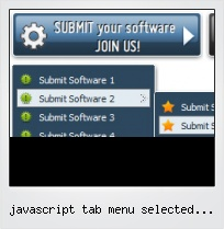 Javascript Tab Menu Selected Become Highlighted