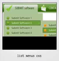 List Menus Css