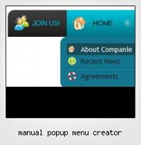 Manual Popup Menu Creator