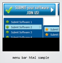 Menu Bar Html Sample