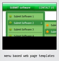 Menu Based Web Page Templates