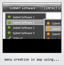 Menu Creation In Asp Using Javascript