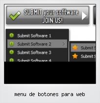 Menu De Botones Para Web