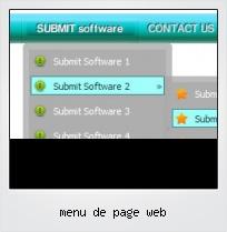 Menu De Page Web