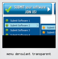 Menu Deroulant Transparent
