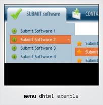 Menu Dhtml Exemple