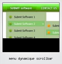 Menu Dynamique Scrollbar