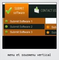 Menu Et Sousmenu Vertical