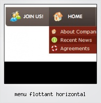 Menu Flottant Horizontal