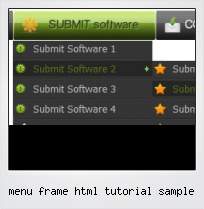 Menu Frame Html Tutorial Sample