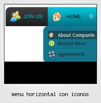 Menu Horizontal Con Iconos