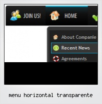 Menu Horizontal Transparente