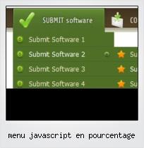 Menu Javascript En Pourcentage