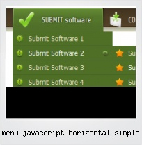 Menu Javascript Horizontal Simple