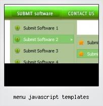 Menu Javascript Templates