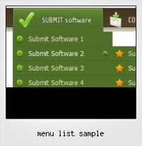 Menu List Sample