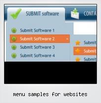 Menu Samples For Websites