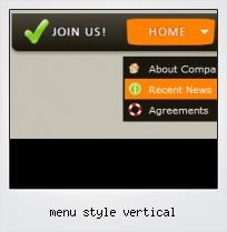 Menu Style Vertical