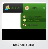 Menu Tab Simple