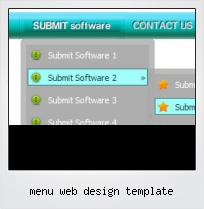 Menu Web Design Template