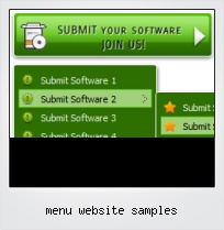 Menu Website Samples
