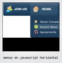 Menus En Javascript Horizontal