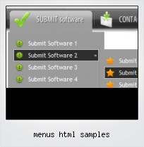 Menus Html Samples