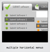 Multiple Horizontal Menus