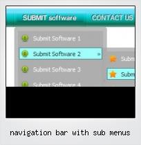 Navigation Bar With Sub Menus