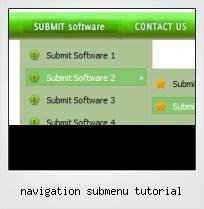 Navigation Submenu Tutorial