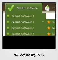 Php Expanding Menu