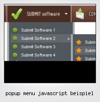 Popup Menu Javascript Beispiel