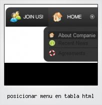 Posicionar Menu En Tabla Html