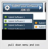 Pull Down Menu And Css