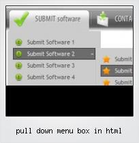 Pull Down Menu Box In Html