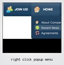 Right Click Popup Menu