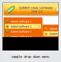 Sample Drop Down Menu