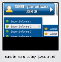 Sample Menu Using Javascript