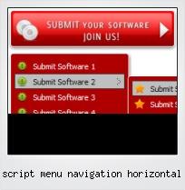 Script Menu Navigation Horizontal