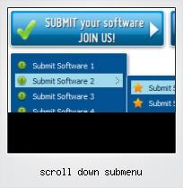 Scroll Down Submenu